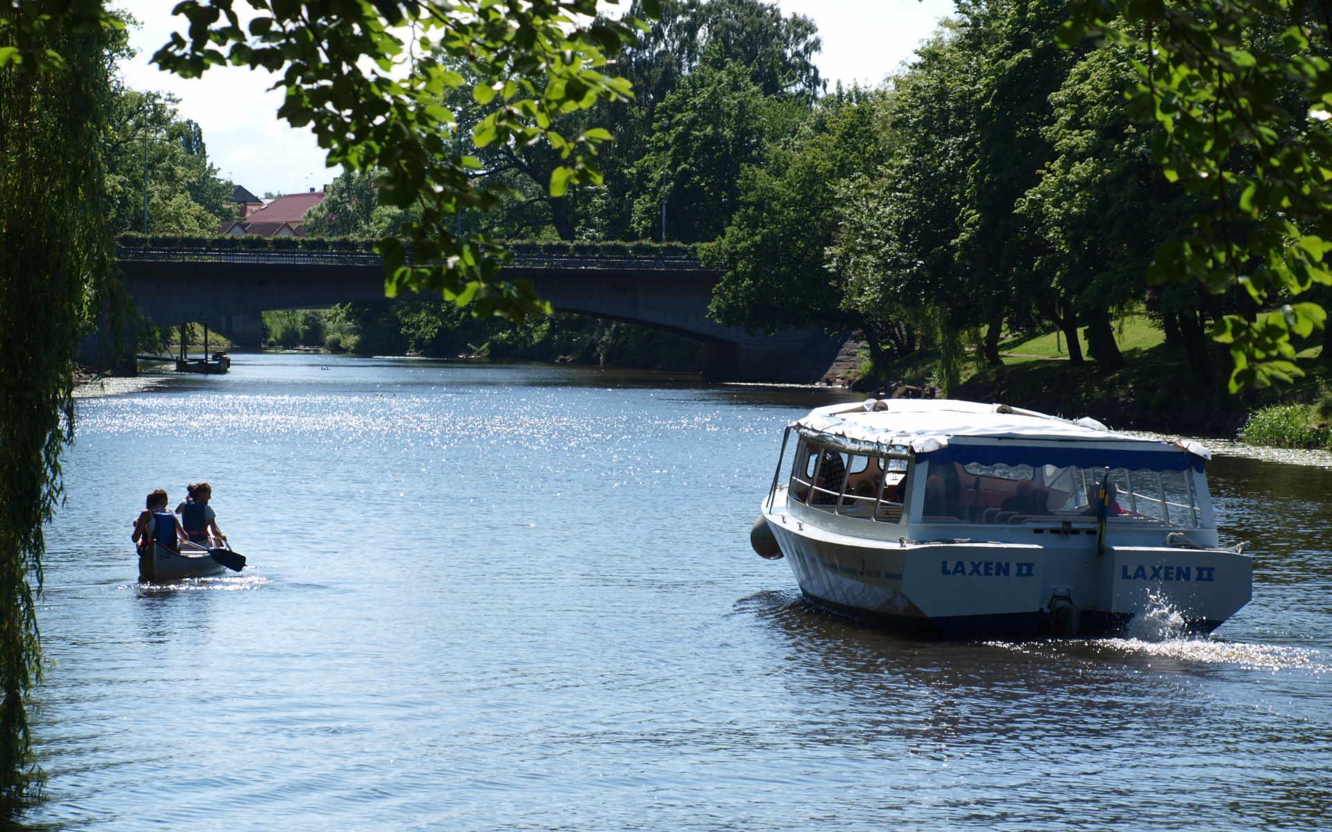 Guidad båttur på Rönne å 2017 - turistbåten Laxen