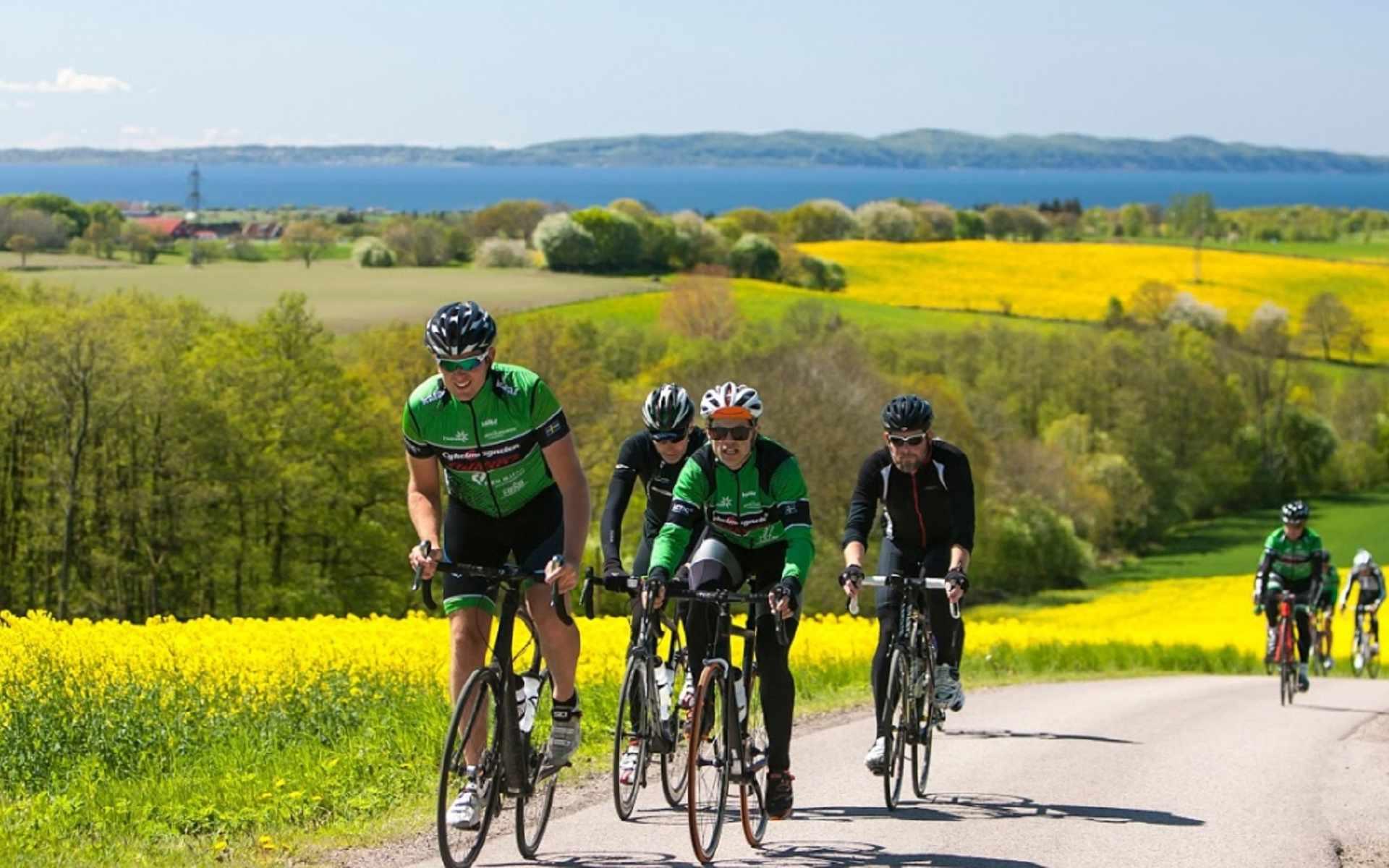 1000 km cykling på Hallandsåsen. NY karta