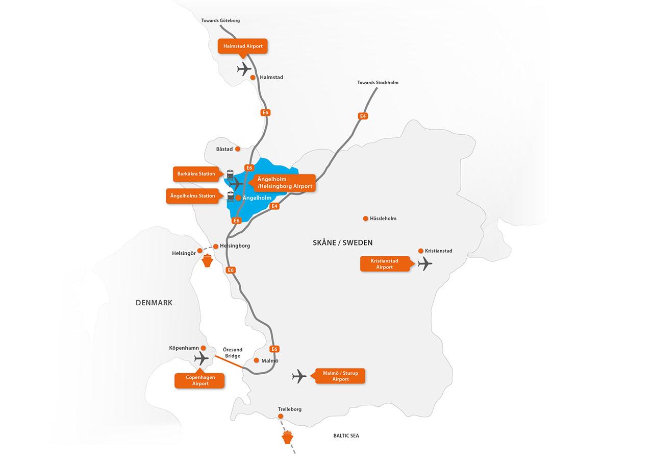 Karta E6 Goteborg.Travel Planning Valkommen Till Angelholm Land Hav Liv Lust