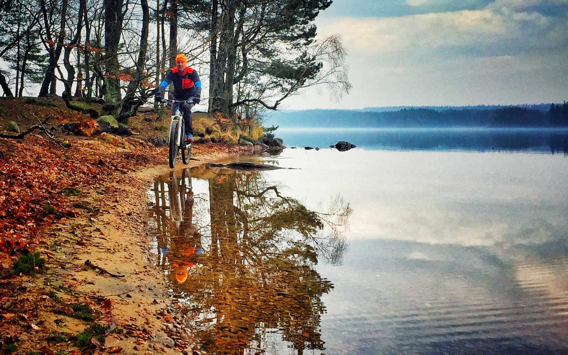 Radfahren in schöner Natur