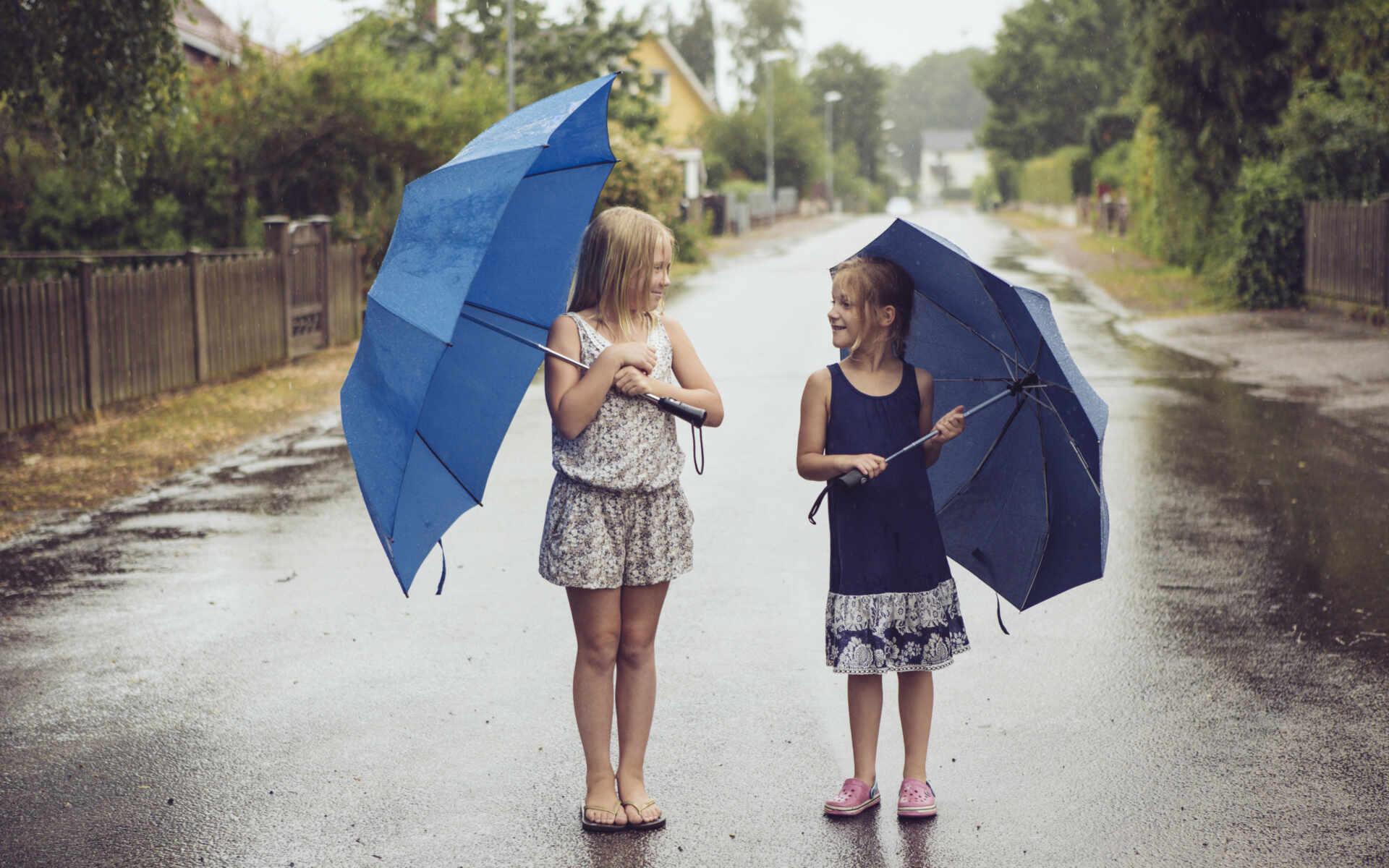 En regnig dag i Ängelholm