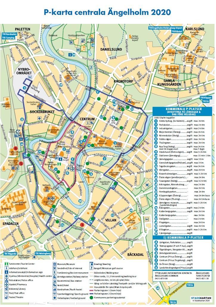 Ängelholm parkeringskarta 2020